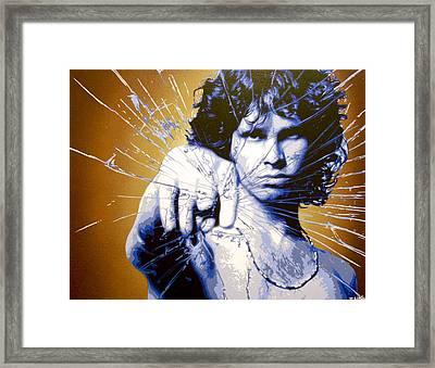Break On Through Framed Print by Bobby Zeik