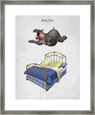 Break Time Framed Print by Rob Snow
