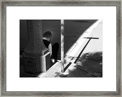 Break Time Framed Print by Sabine Stetson