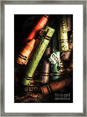 Breakdown Of Color Framed Print by Jorgo Photography - Wall Art Gallery