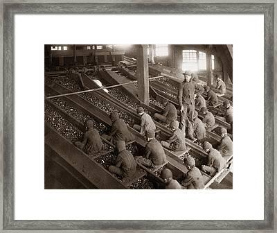Breaker Boys Lehigh Valley Coal Co Maltby Pa Near Swoyersville Pa Early 1900s Framed Print by Arthur Miller