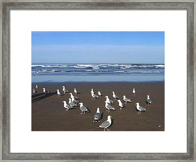 Breakfast At Cannon Beach Framed Print by Will Borden