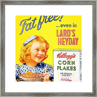 Breakfast Cereal Kelloggs Corn Flakes 20160219 Square Framed Print by Wingsdomain Art and Photography