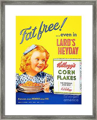 Breakfast Cereal Kelloggs Corn Flakes 20160219 Framed Print by Wingsdomain Art and Photography