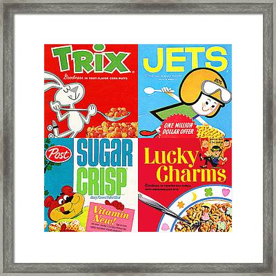 Breakfast Cereal Pop Art Nostalgia Four 20160215 Framed Print by Wingsdomain Art and Photography