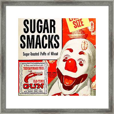 Breakfast Cereal Sugar Smacks Pop Art Nostalgia 20160215 Square Framed Print by Wingsdomain Art and Photography