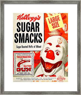 Breakfast Cereal Sugar Smacks Pop Art Nostalgia 20160215 Framed Print by Wingsdomain Art and Photography