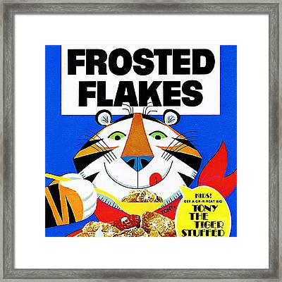 Breakfast Cereal Tony The Tiger 20160215 Square Framed Print by Wingsdomain Art and Photography