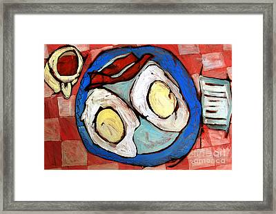 Breakfast Of Champions Rephotographed Framed Print by Charlie Spear