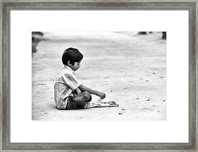Breakfast On The Street Framed Print by Tim Gainey