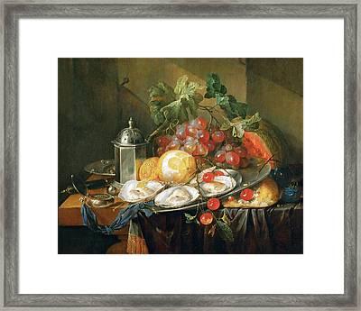 Breakfast Still Life Framed Print by Cornelis de Heem