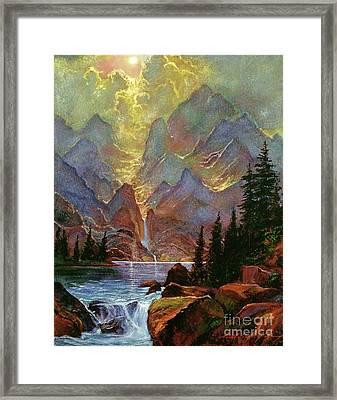 Breaking Sunlight Framed Print by David Lloyd Glover