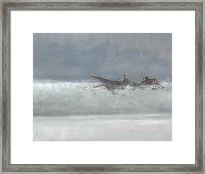 Breaking The Surf  Sri Lanka Framed Print by Lincoln Seligman