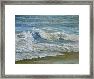 Breaking Waves Framed Print by Phyllis Tarlow