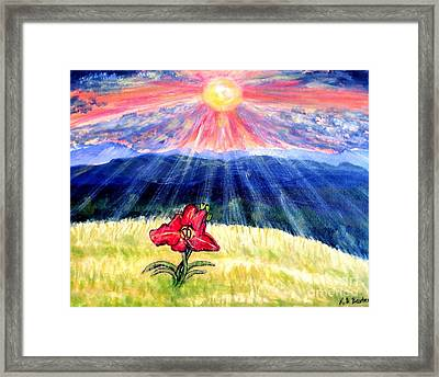 Breakthrough Of Hope Framed Print by Kimberlee Baxter