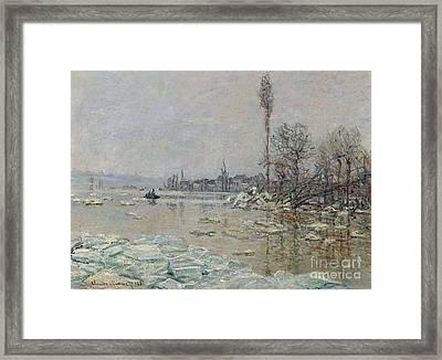 Breakup Of Ice Framed Print by Claude Monet