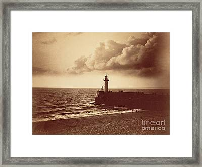 Breakwater At Sete Framed Print by Gustave Le Gray