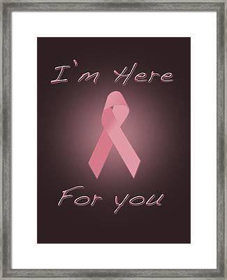 Breast Cancer Framed Print by Jim  Hatch