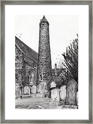 Brechin Round Tower Framed Print by Vincent Alexander Booth
