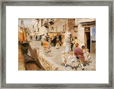 Breezy Day In Venice Framed Print by MotionAge Designs
