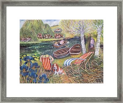 Breezy River Framed Print by Lisa Graa Jensen