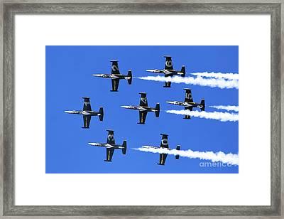 Breitling Air Display Team L-39 Albatross Framed Print by Nir Ben-Yosef