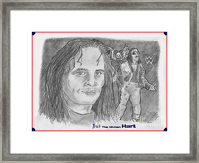 Bret The Hitman Hart Framed Print by Chris  DelVecchio