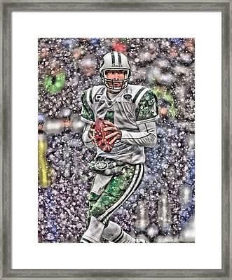 Brett Favre New York Jets Framed Print by Joe Hamilton