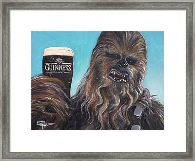 Brewbacca Framed Print by Tom Carlton