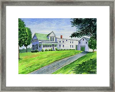 Brewer Family Farm, Augusta Maine Framed Print by Jeff Blazejovsky