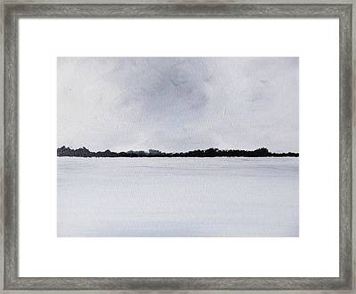 Brewing Storm Beyond The Irish Waters Framed Print by Trilby Cole