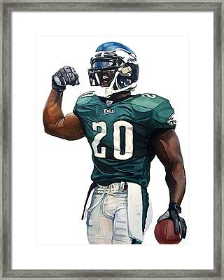 Brian Dawkins - Philadelphia Eagles Framed Print by Michael Pattison