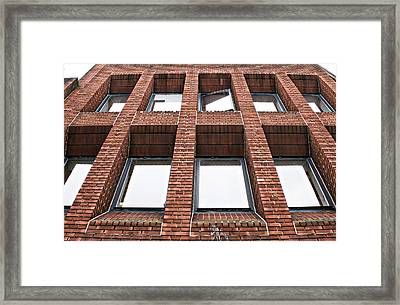 Brick Building Framed Print by Tom Gowanlock