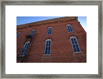 Brick Face Framed Print by Ross Powell