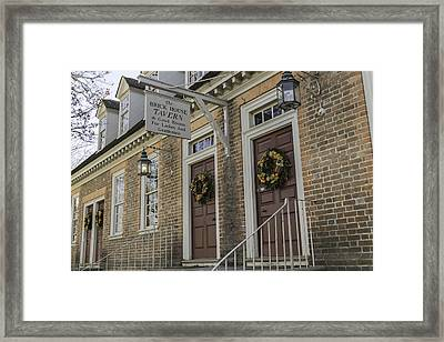 Brick House Tavern Framed Print by Teresa Mucha