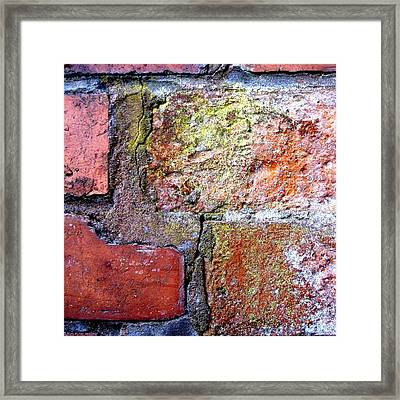Brick Wall Framed Print by Roberto Alamino