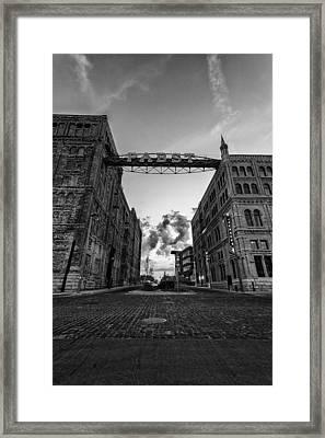Bricks And Beer Framed Print by CJ Schmit