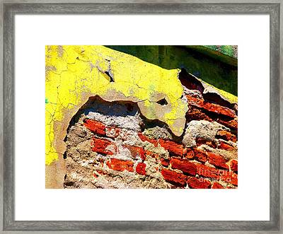 Bricks And Yellow By Michael Fitzpatrick Framed Print by Mexicolors Art Photography