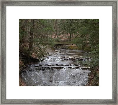 Bridal Veil Falls Ohio Framed Print by Dan Sproul