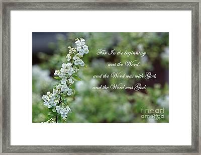 Bridal Wreath Christian Art Framed Print by Ella Kaye Dickey