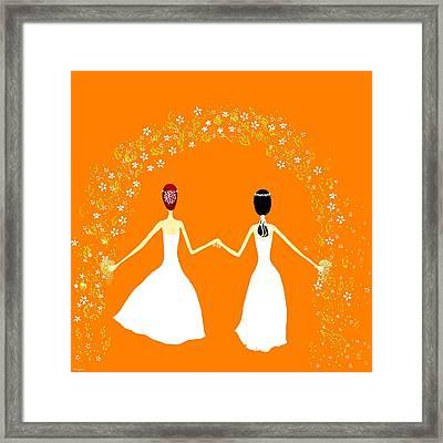 Brides Framed Print by Barbara Moignard