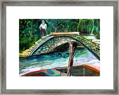Bridge At Torcello Island Outside Venice Framed Print by Mindy Newman