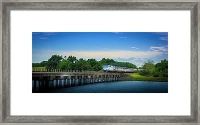 Bridge Crossing Framed Print by Marvin Spates