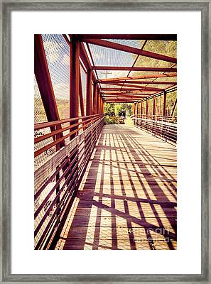 Bridge Framed Print by HD Connelly