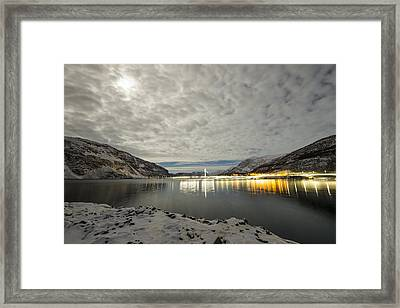 Bridge In Kofjord Alta Framed Print by Helge Larsen