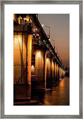 Bridge In Seoul Framed Print by Hyuntae Kim