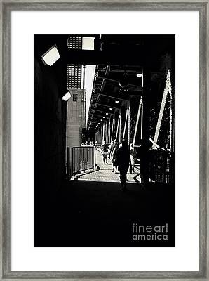 Bridge - Lower Lakeshore Drive At Navy Pier Chicago. Framed Print by Frank J Casella