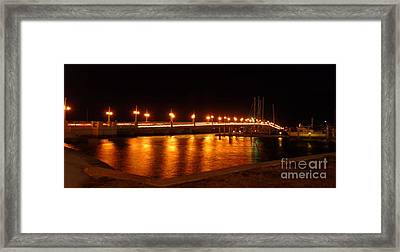 Bridge Of Lions Night Of Lights Framed Print by D Hackett