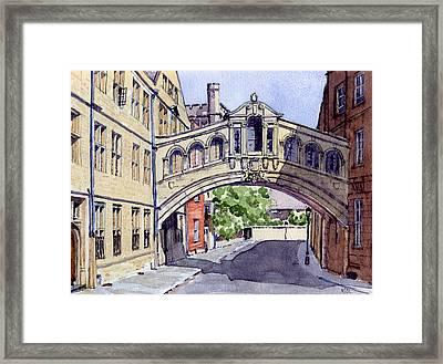 Bridge Of Sighs. Hertford College Oxford Framed Print by Mike Lester