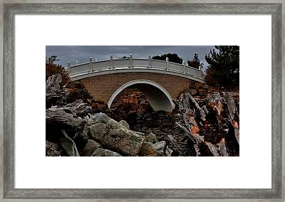 Bridge Over Tidal Waters Framed Print by Stacie Gary